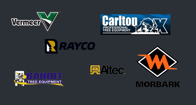 Vermeer, Carlton, Altec, Whisper, Rayco, Morbark, Brush bandit